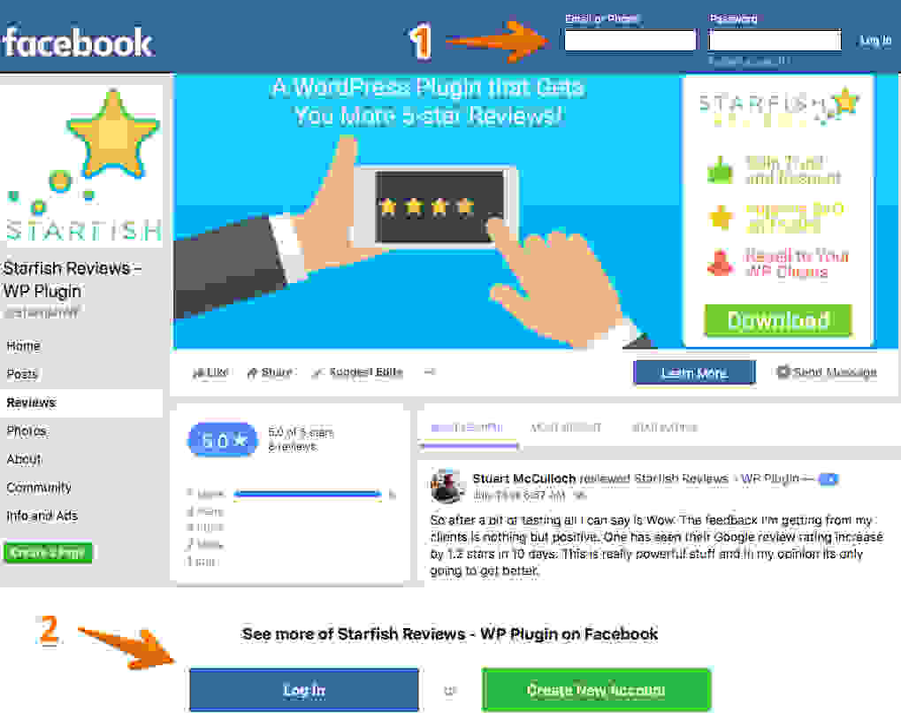 Image result for get more reviews on facebook
